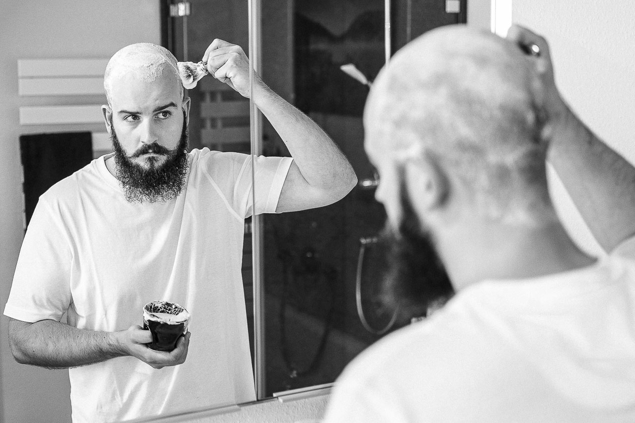 Tipps für die Rasur einer Glatze.