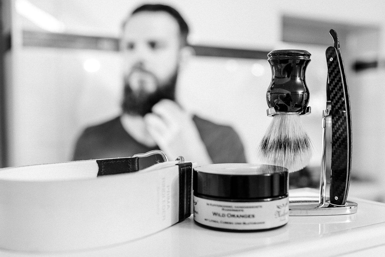 Bei einem Rasierset mit Rasiermesser ist alles enthalten, das du für deine Nassrasur benötigst.