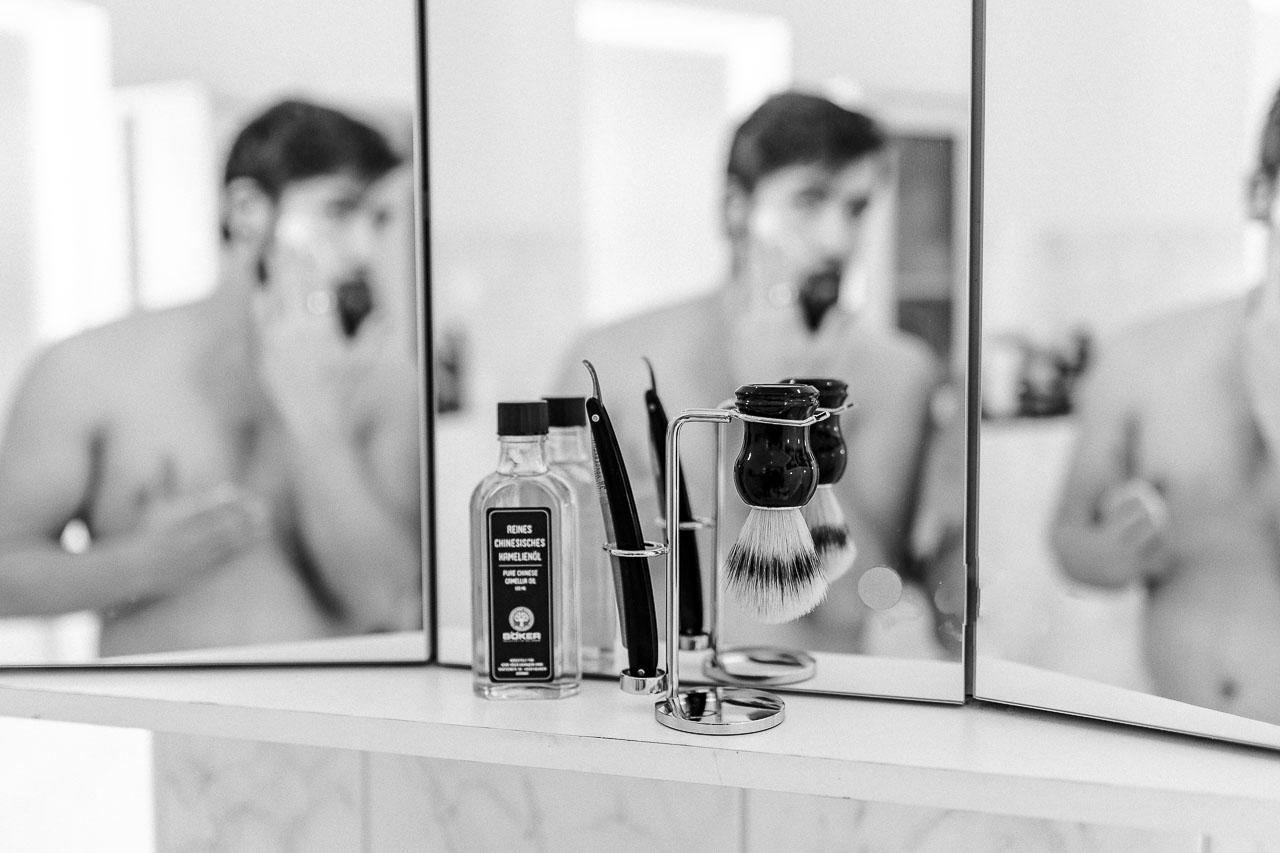Die optimale Vorbereitung der Rasur.