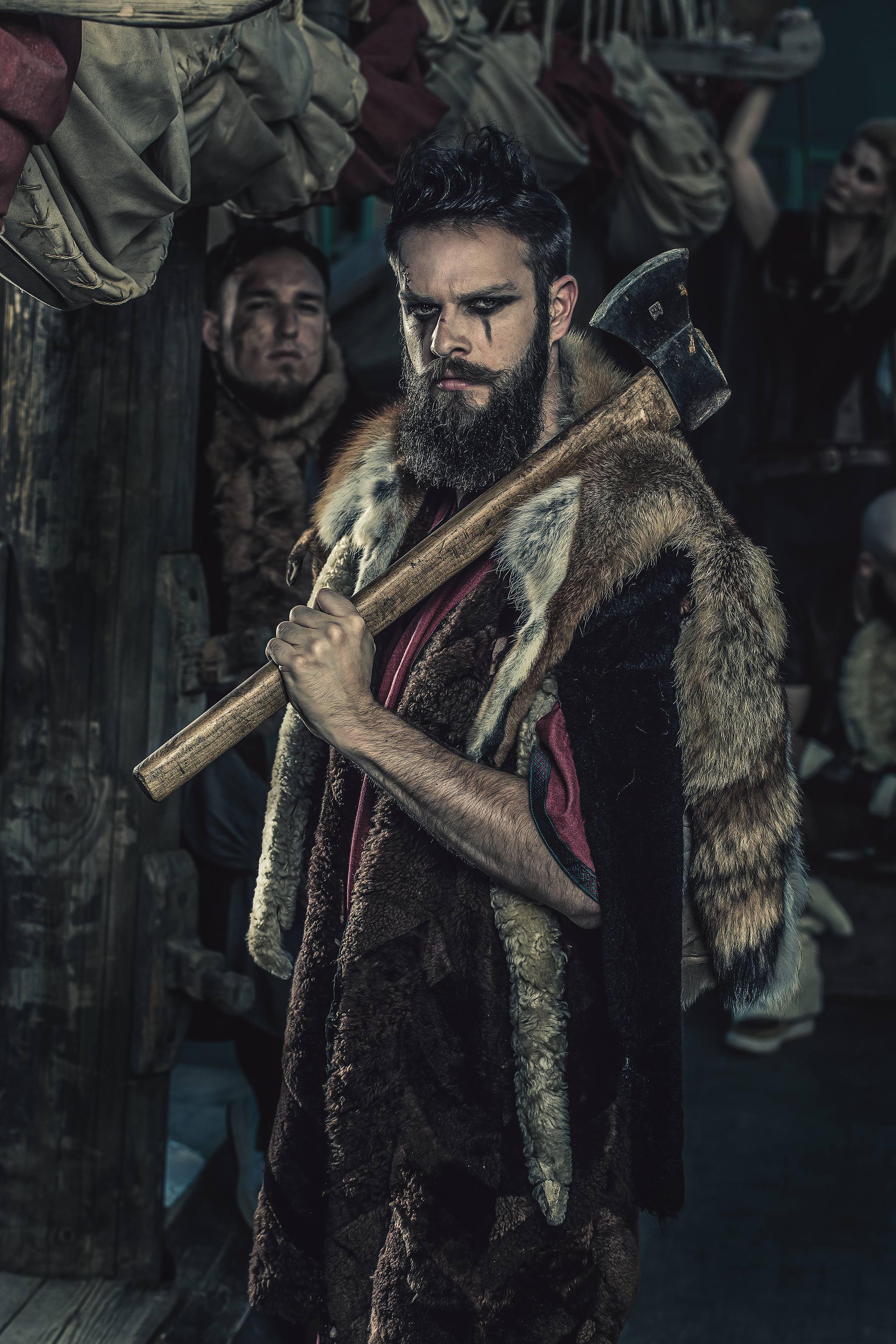 Basti als Wikinger bei der Kooperation von blackbeards und dem Lokschuppen Rosenheim.