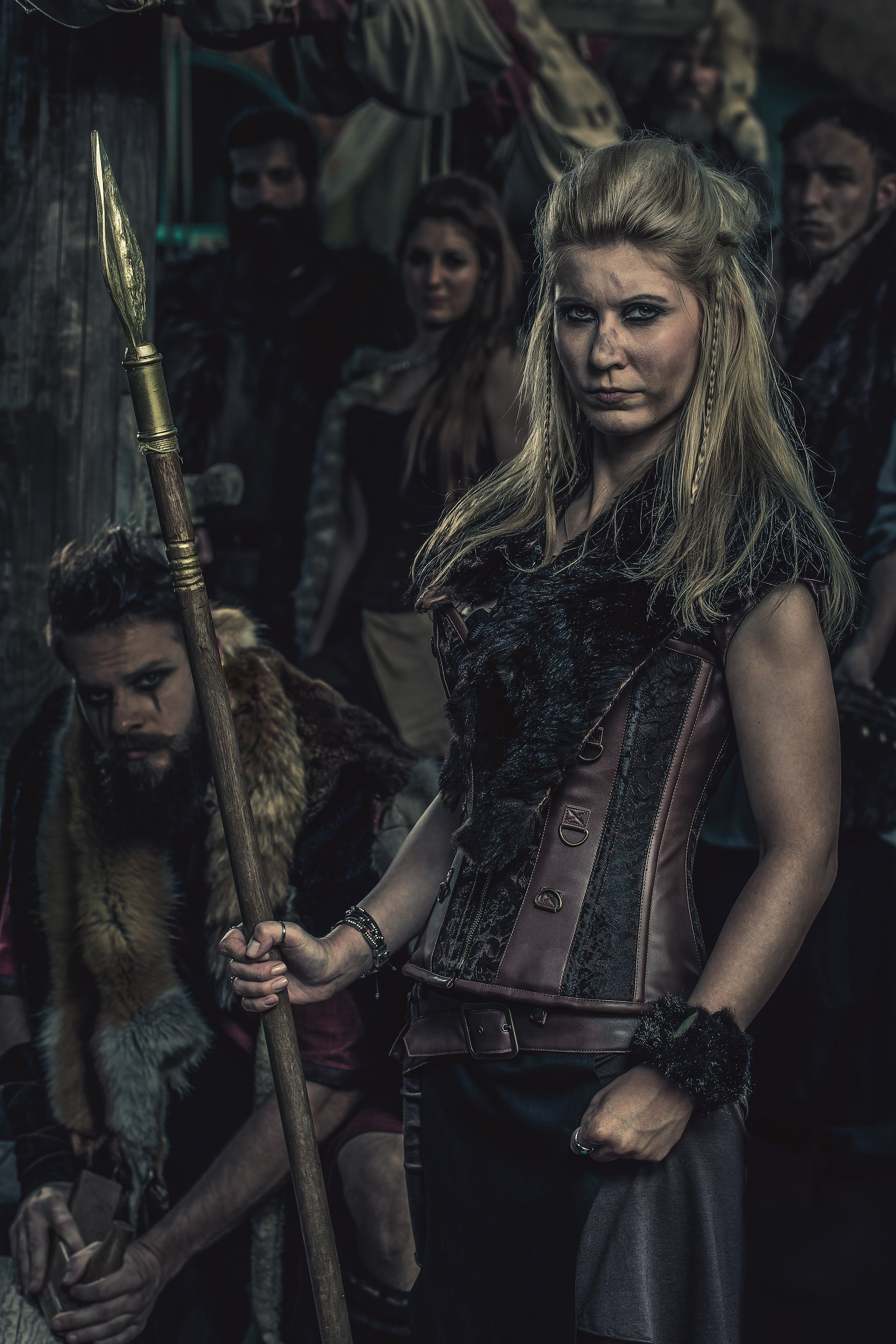 Cathy, verkleidet als Wikinger für die Kooperation von blackbeards mit dem Lokschuppen in Rosenheim.