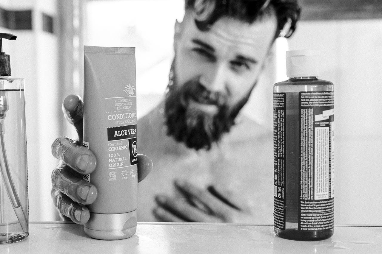 Es gibt verschiedene Arten von Shampoo.