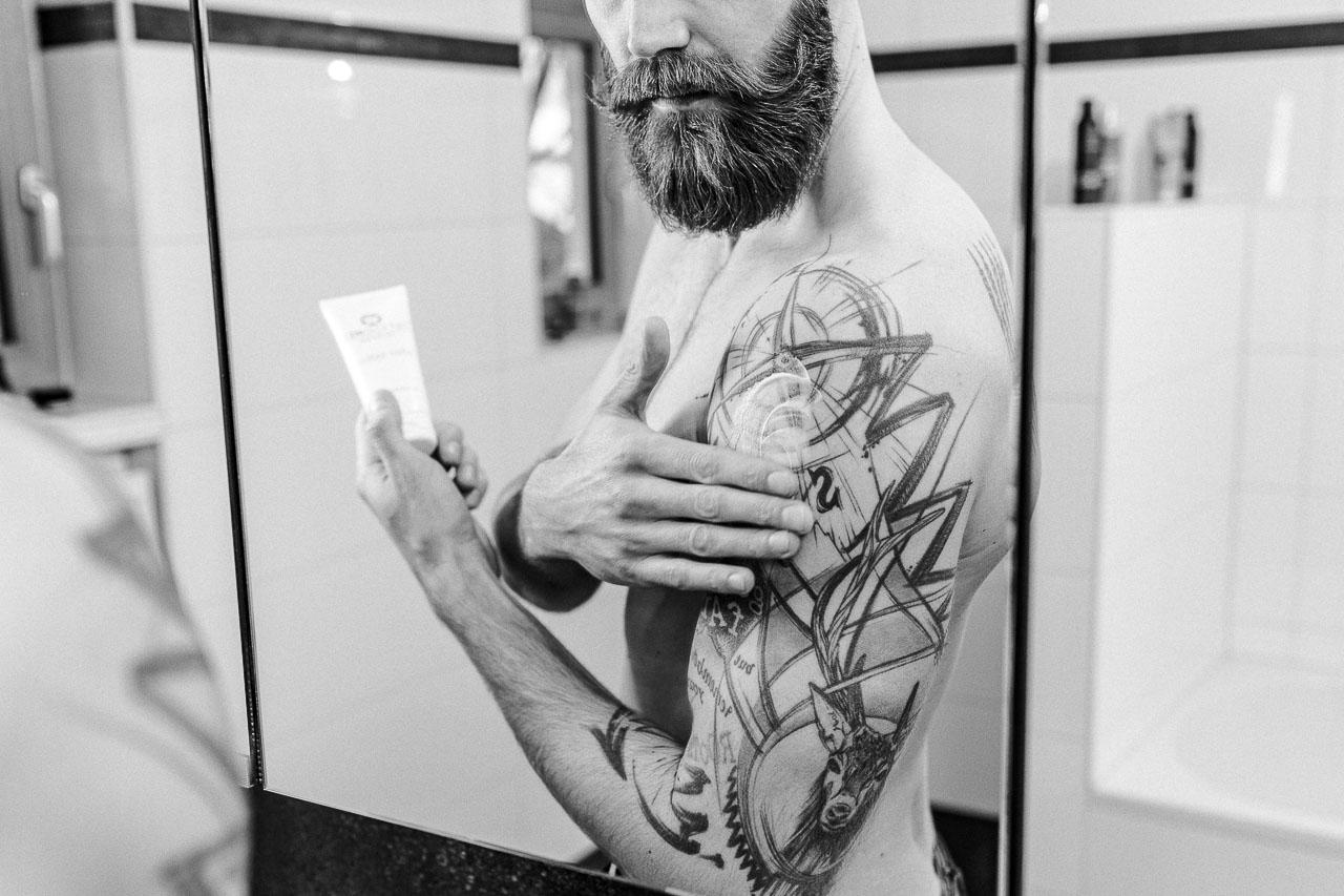 Aftercare beim Tattoo, damit es lange schön bleibt.