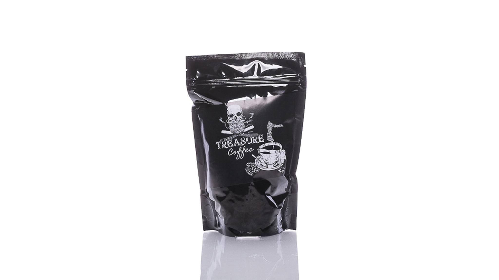 Der blackbeards Kaffee Treasure brachte das volle Arome von 5 Arabica Sorten in deine Lieblingstasse.