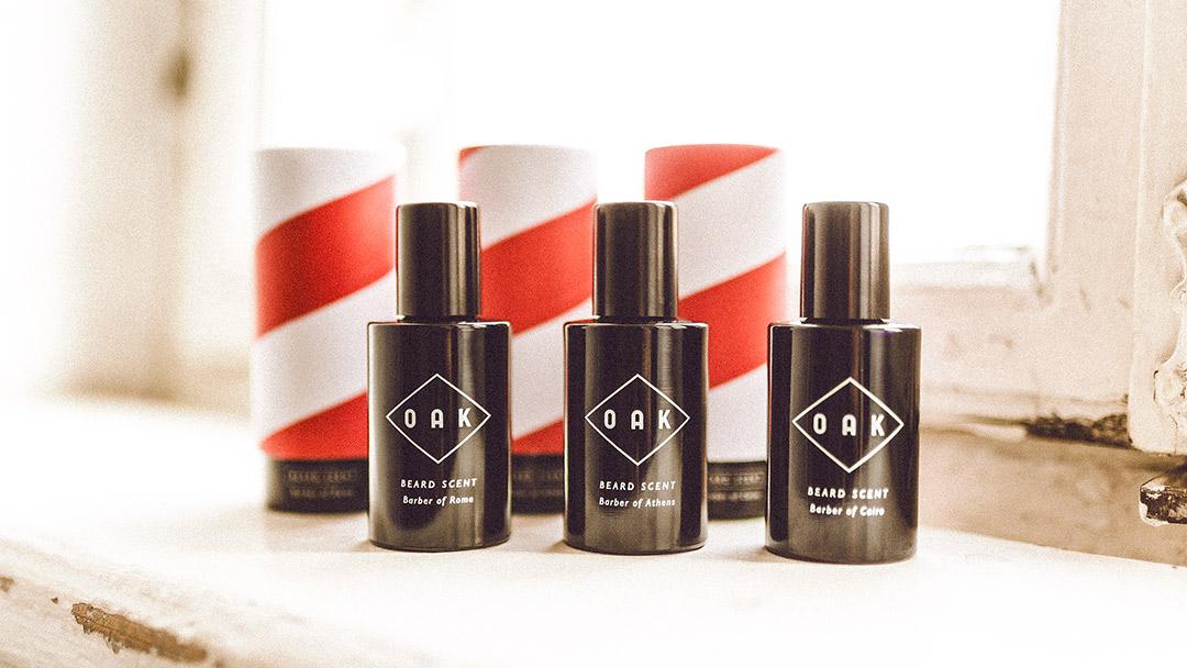 Beard Scents von Oak sind eine geniale Erfindung, die als eine Zwischenstufe von Parfüm und Bartöl bezeichnet werden könnte. Wunderbarer Duft für deinen Bart.