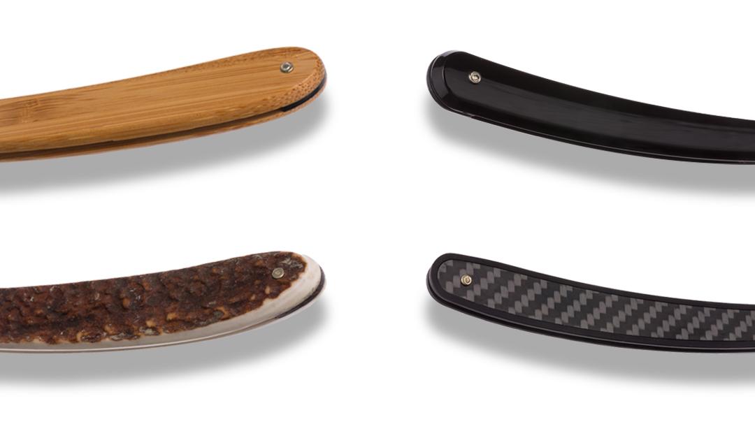 Das Heft des Rasiermessers sorgt dafür, dass deine Klinge sicher vor Schaden gelagert wird und dich selbst, damit du dich nicht schneidest. Es kann aus unerschiedlichsten Materialien bestehen, welche von Plastik über Babmus und Horn bis hin zu Carbonfasern reichen.