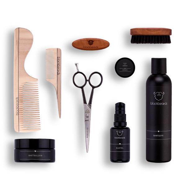 Ein Bartpflege Set von blackbeards