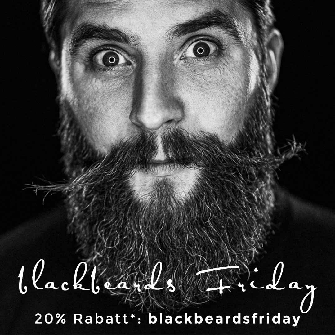 blackbeards Black Friday Sale - Bartpflege und Rasur Produkte zum schwarzen Freitag