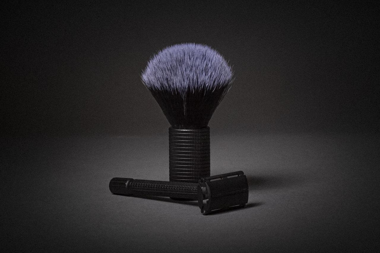 blackbeards Rasier-Set bestehend aus Rasierhobel und Rasierpinsel