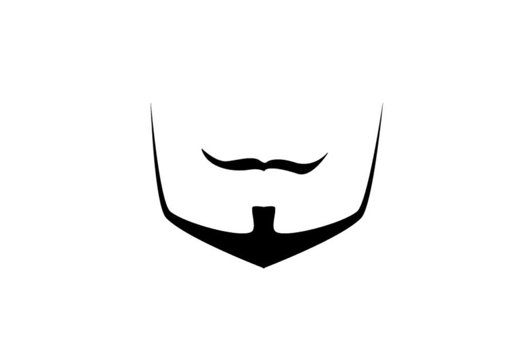 Der Bartstil Anchor ist eine Kombination aus einem klar definiertem dicken Chin-Strap in Ankerform und einem Oberlippenbart.