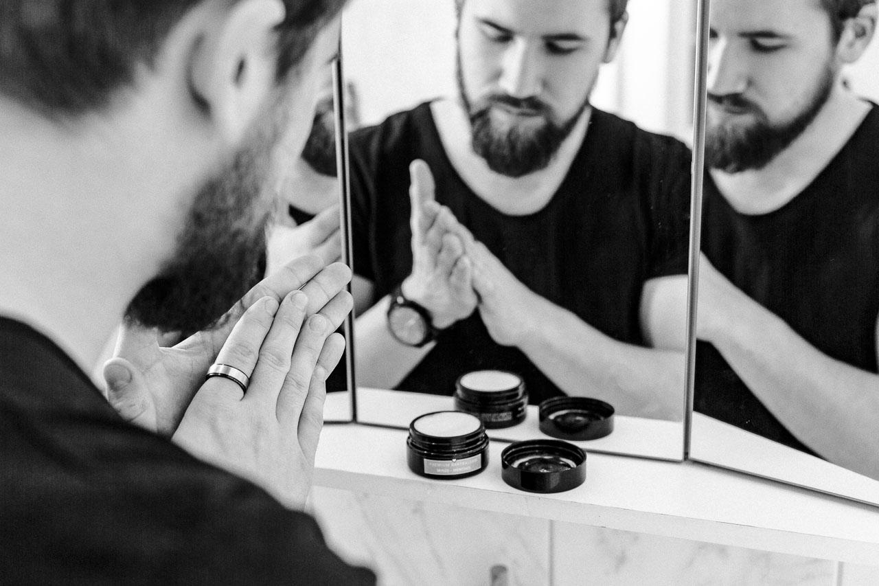Beard Balm ohne Bienenwachs (vegan).