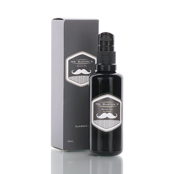 Bartöl - Mr. Burton´s Beard Oil - CLASSIC - unverwechselbarer Duft - 50ml Bart Öl für die Bartpflege - TESTSIEGER 2018 bei Amazon