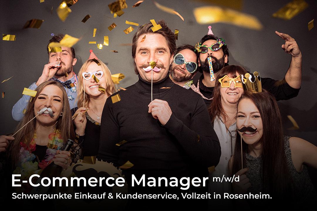 Stellenangebot: E-Commerce Manager m/w/d, Schwerpunkte Einkauf & Kundenservice, Vollzeit in Rosenheim.